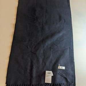 Hermes navy cashmere scarf NWT READ